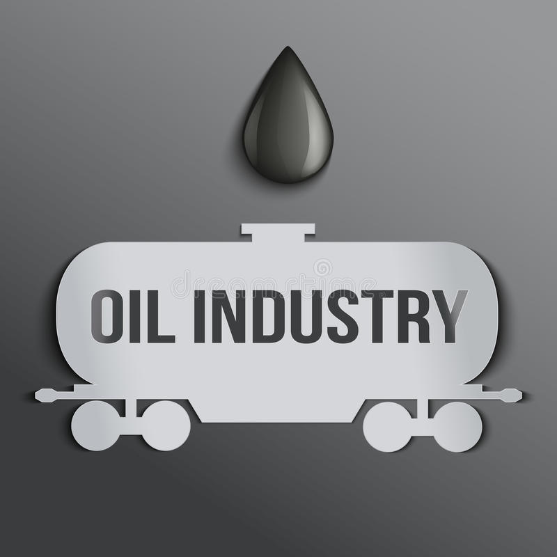 HintergrundÖltank und ein Tropfen des Erdöls. lizenzfreie abbildung