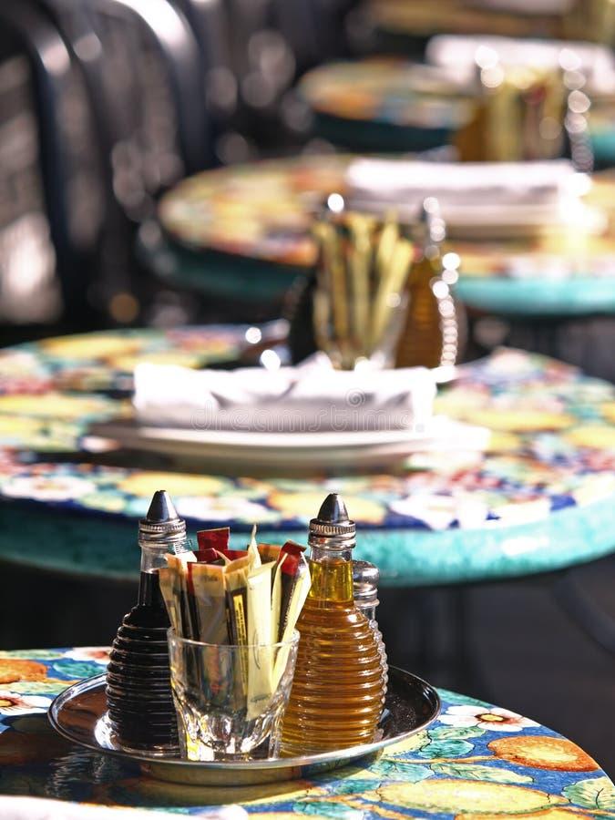 Hintergrund-Abbildung des Würzens auf Gaststätte Tabl stockfoto