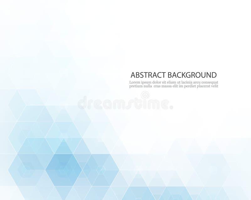 Hintergrund abstrakte Wissenschaft des Vektors Geometrisches Design des Hexagons stock abbildung