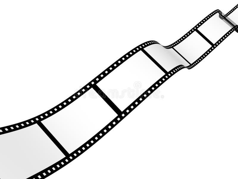 Hintergrund - abstrakter fotographischer Film 3d vektor abbildung