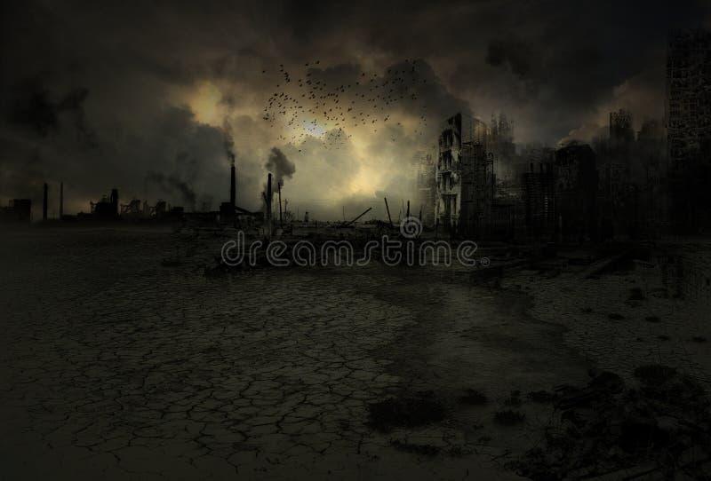 Hintergrund - apokalyptisches Szenario lizenzfreie stockfotos