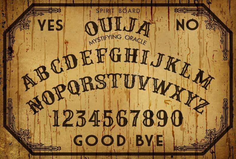 Hintergrund Art Ouija Board lizenzfreie abbildung