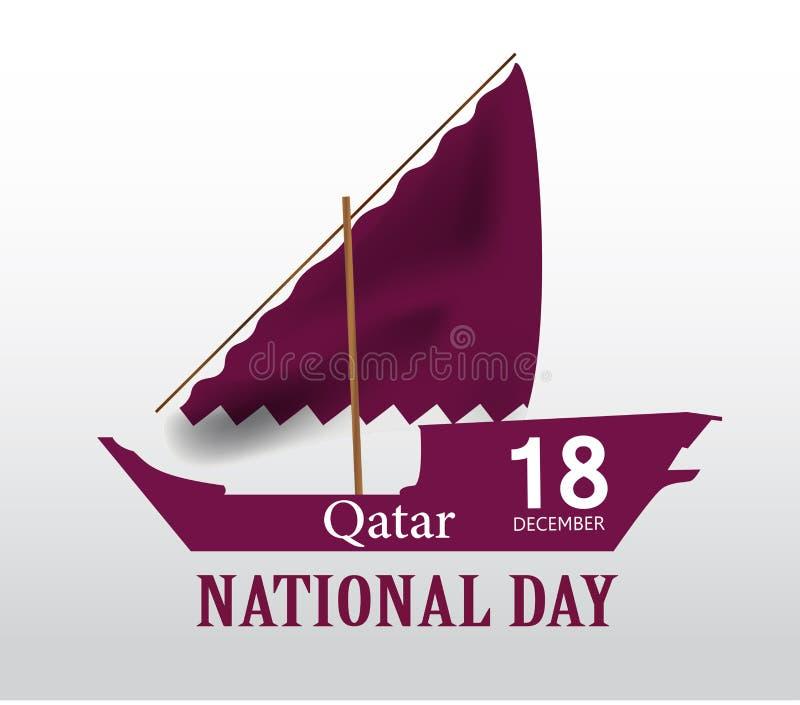 Hintergrund auf der Gelegenheit Katar-Nationaltagfeier lizenzfreie abbildung