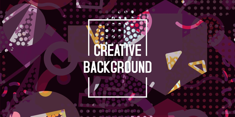 Hintergrund-Beschaffenheitsentwurf der Vektorzusammenfassung geometrischer, helles Plakat, purpurroter Hintergrund der Fahne, vio lizenzfreie abbildung