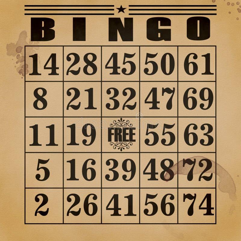 Hintergrund-Bingo stock abbildung
