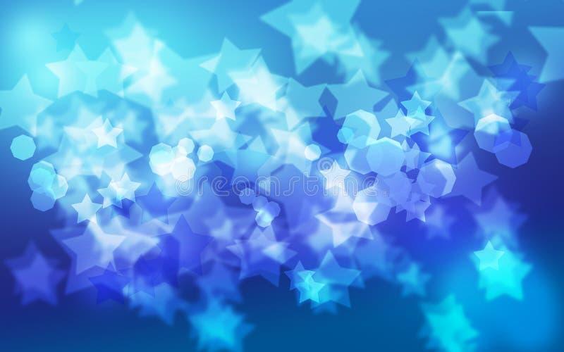 Hintergrund blauen Sternes Bokeh stockfotos