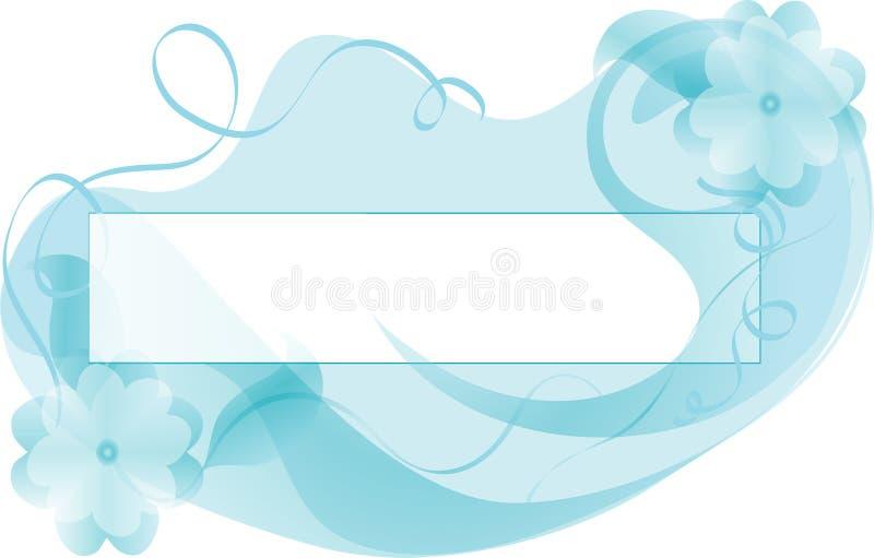 Hintergrund-blaues Pastellblumen. vektor abbildung