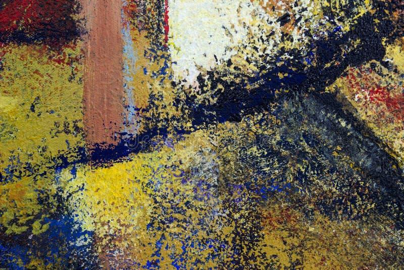 Hintergrund der abstrakten Kunst Ölgemälde auf Segeltuch stock abbildung