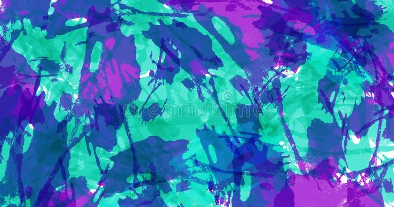Hintergrund der abstrakten Kunst Bunte grunge Beschaffenheit Pinselstriche der Farbe Malen Sie spritzt Moderner Anstrich stock abbildung