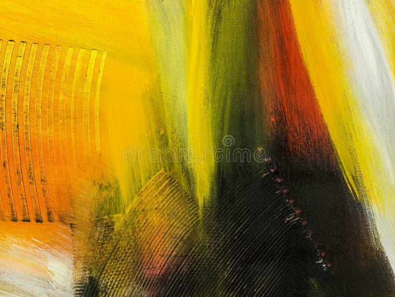 Hintergrund der abstrakten Kunst Hand gezeichnete Acrylmalerei Buntes c lizenzfreie abbildung