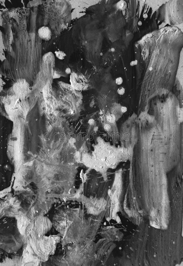Hintergrund der abstrakten Kunst Moderne Kunst Mehrfarbige helle Beschaffenheit Landschaft mit Fluss und Wald lizenzfreie abbildung