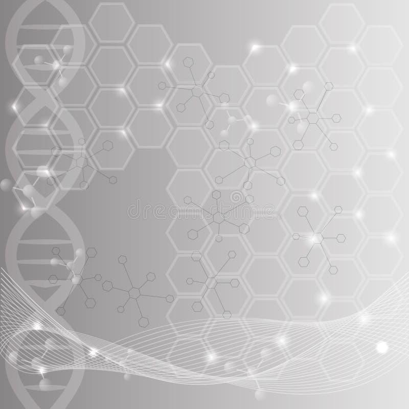 Hintergrund der abstrakten Wissenschaft stock abbildung
