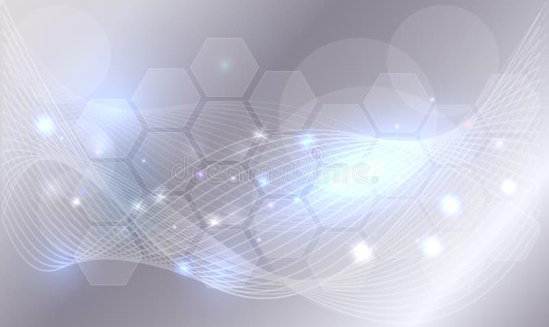 Hintergrund der abstrakten Wissenschaft lizenzfreie abbildung