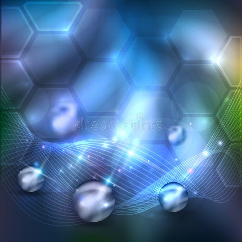 Hintergrund der abstrakten Wissenschaft vektor abbildung