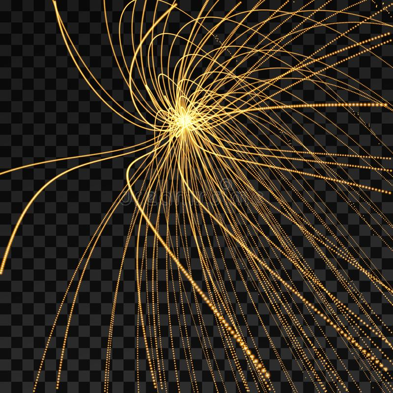 Hintergrund der abstrakten Wissenschaft oder der Technologie Reihe mit dynamischen Partikeln Auch im corel abgehobenen Betrag stock abbildung