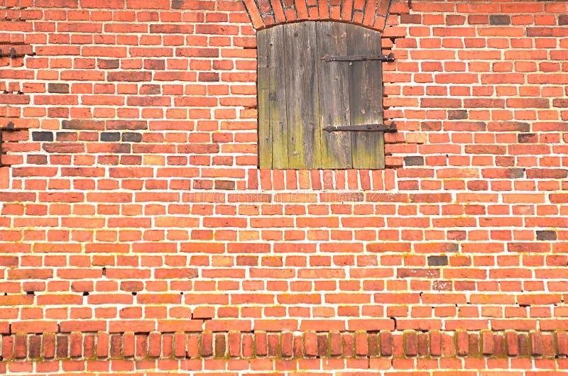 Hintergrund der alten Wand des roten Backsteins lizenzfreie stockbilder