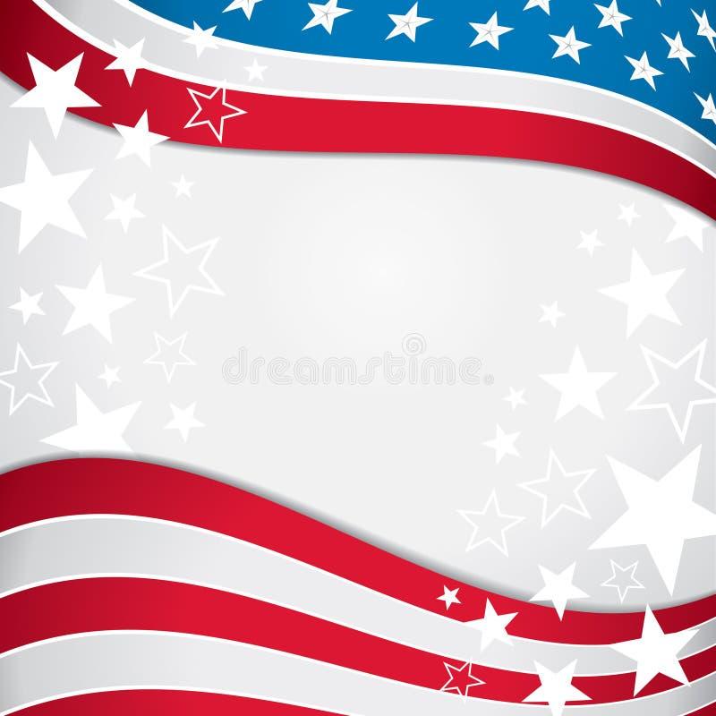 Hintergrund der amerikanischen Flagge stock abbildung