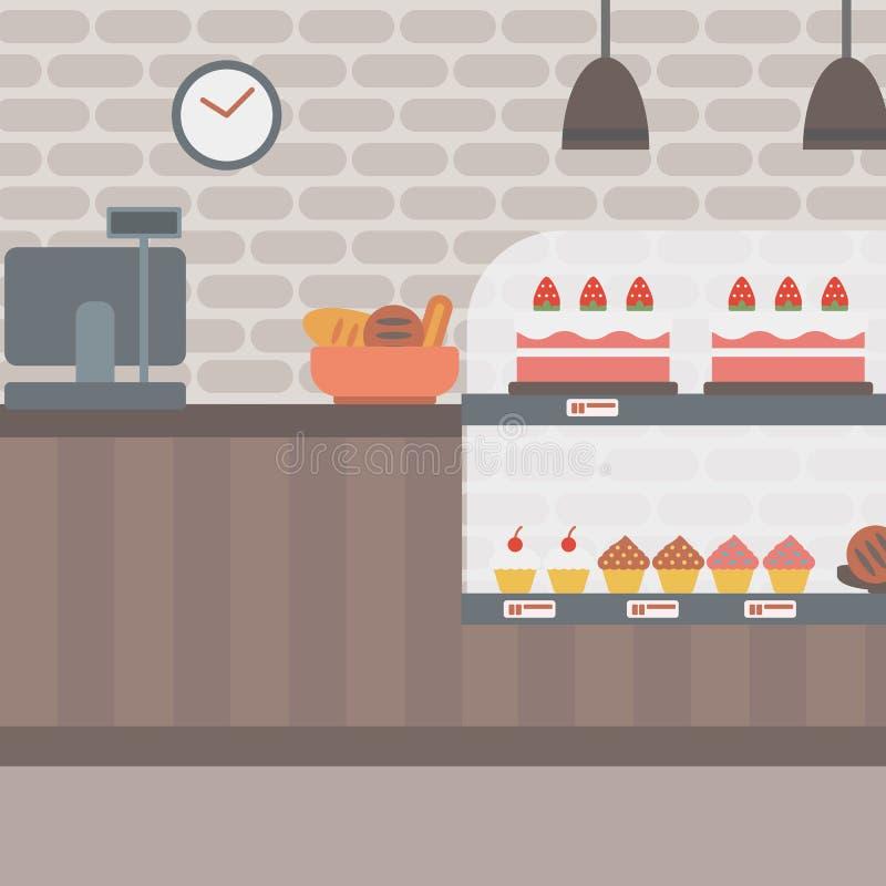 Hintergrund der Bäckerei lizenzfreie abbildung