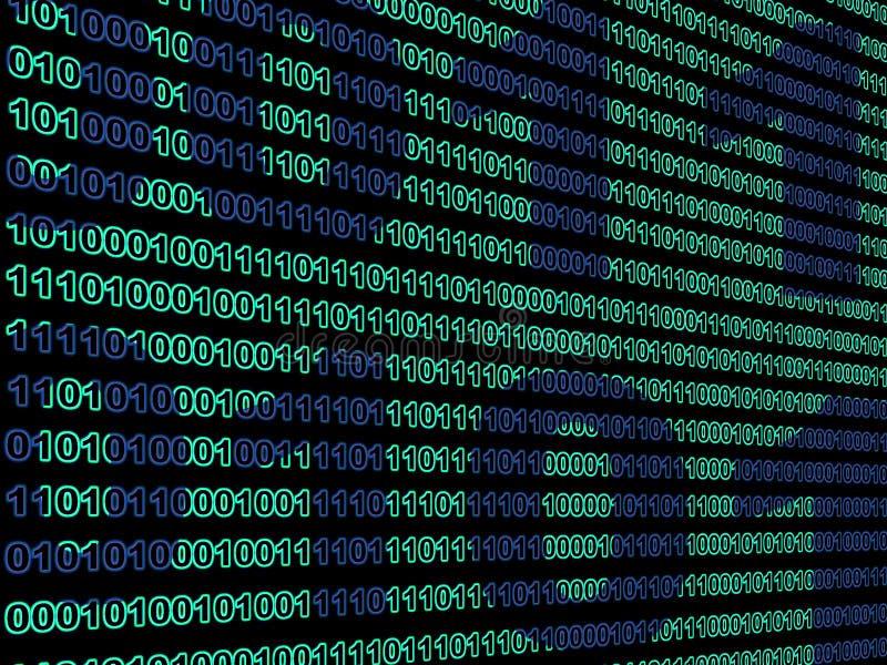 Hintergrund der binären Daten lizenzfreie stockfotos