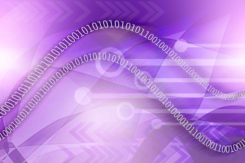 Hintergrund der binären Daten lizenzfreie abbildung