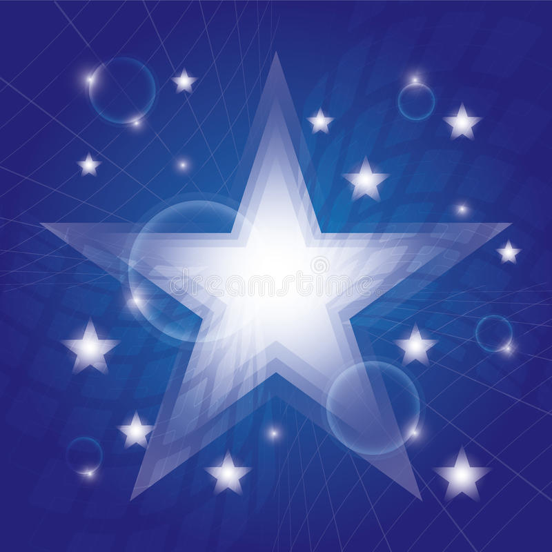 Hintergrund der blauen Sterne vektor abbildung