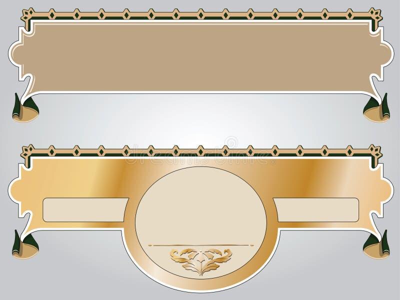 Hintergrund in der Byzantian Art lizenzfreie abbildung