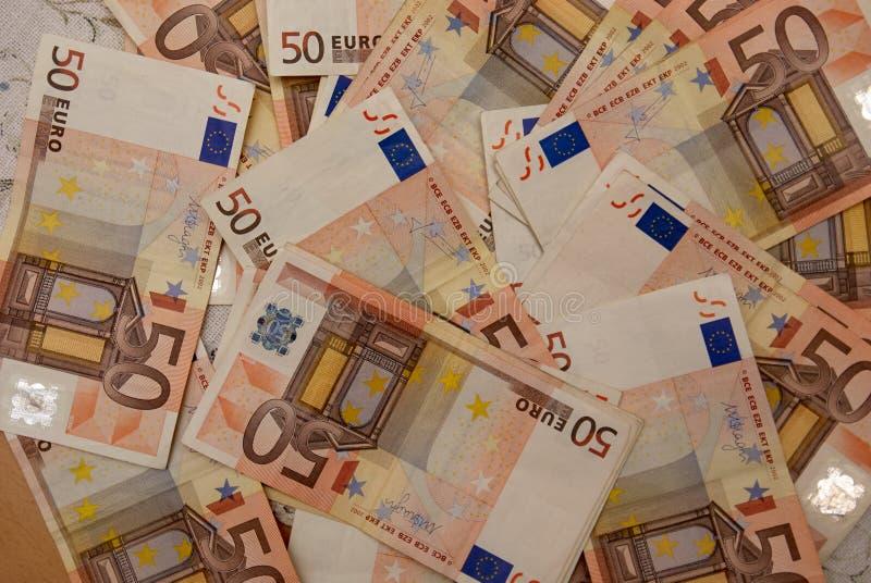 Hintergrund der Eurorechnungen stockbild