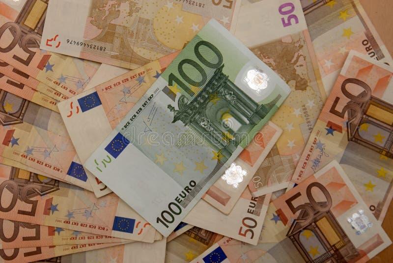 Hintergrund der Eurorechnungen lizenzfreie stockfotos