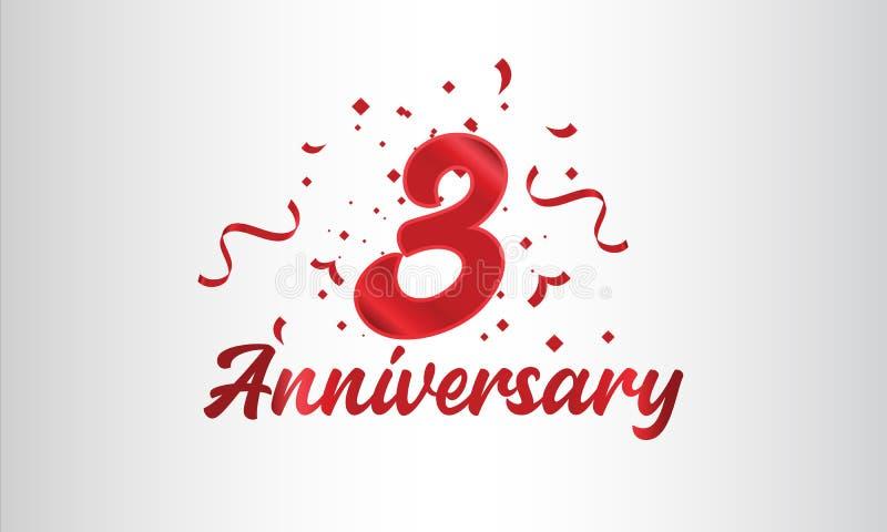 Hintergrund der Feierlichkeiten zum Jahrestag mit der dritten Zahl in Gold und mit den Worten Goldene Jubiläumsfeier lizenzfreie abbildung