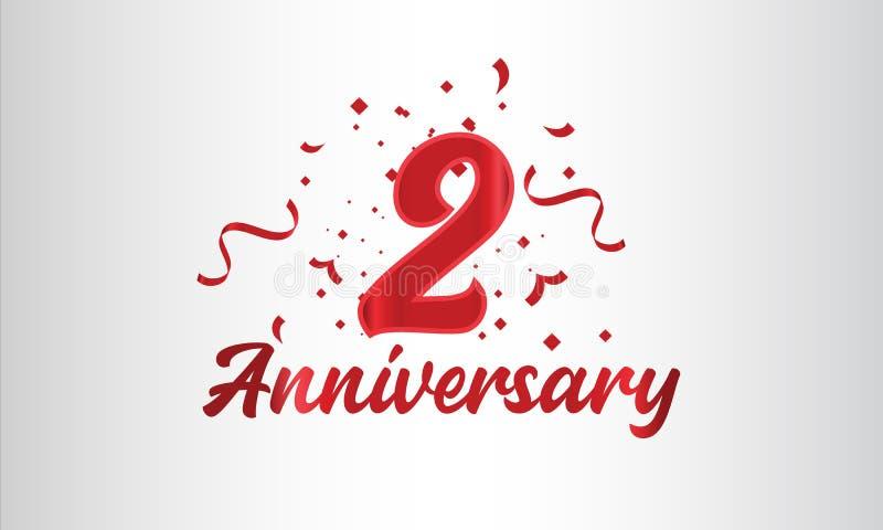 Hintergrund der Feierlichkeiten zum Jahrestag mit der 2. Zahl in Gold und mit den Worten Goldene Jubiläumsfeier vektor abbildung