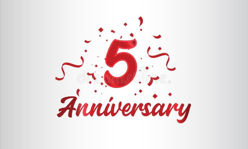 Hintergrund der Feierlichkeiten zum Jahrestag mit der 5. Zahl in Gold und mit den Worten Goldene Jubiläumsfeier vektor abbildung