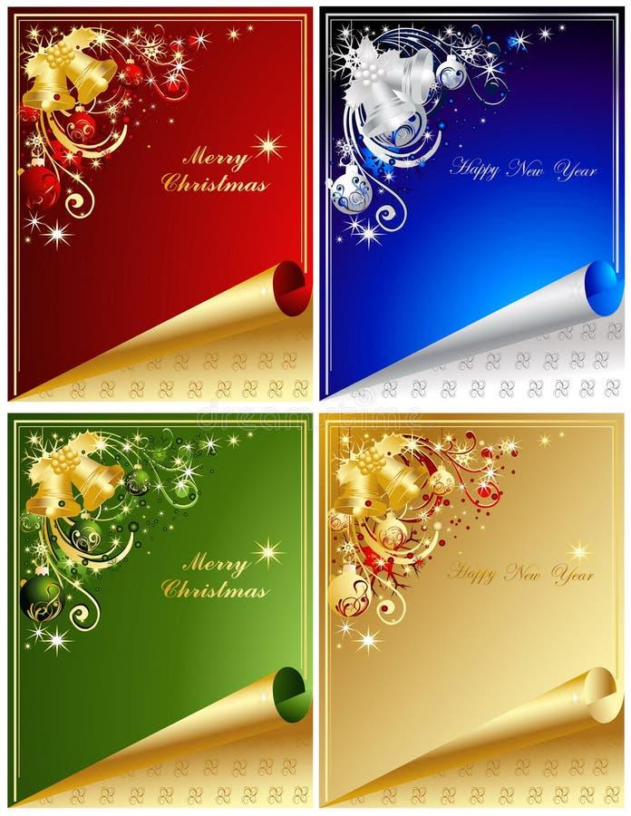 Hintergrund der frohen Weihnachten stock abbildung