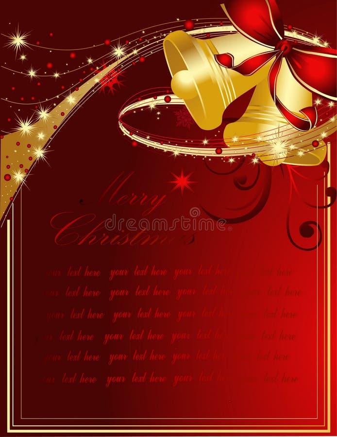 Hintergrund der frohen Weihnachten lizenzfreie abbildung