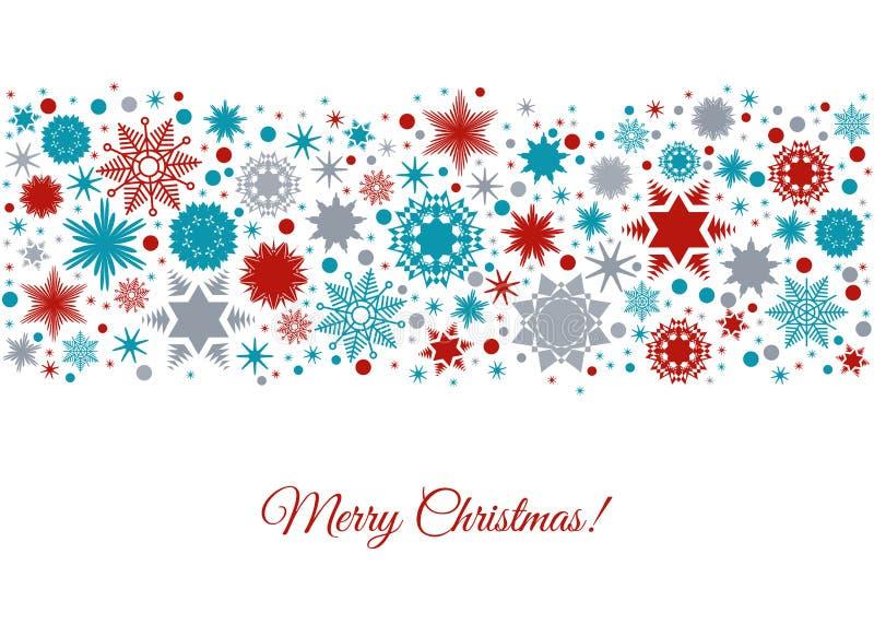 Hintergrund der frohen Weihnachten mit buntem Feiertagsmuster lizenzfreie abbildung
