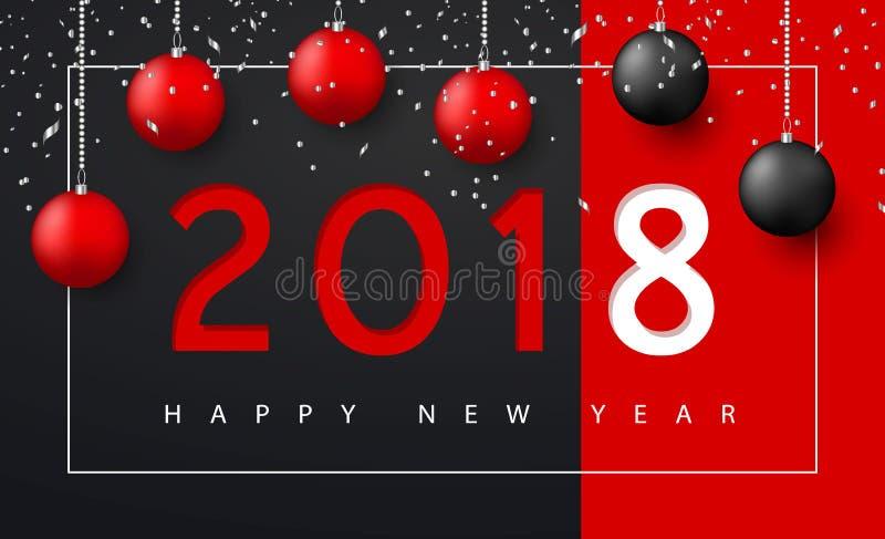 Hintergrund der frohen Weihnachten und des guten Rutsch ins Neue Jahr für Feiertagsgrußkarte, Einladung, Parteiflieger, Plakat, F vektor abbildung