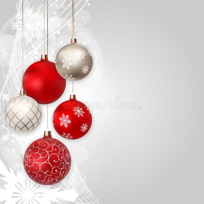 Hintergrund der frohen Weihnachten und des neuen Jahres Auch im corel abgehobenen Betrag lizenzfreie abbildung