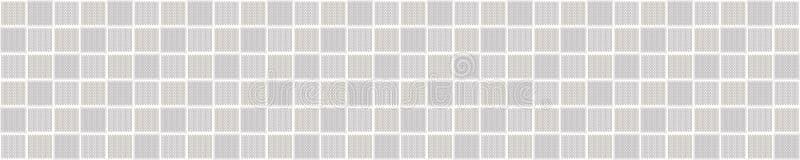 Hintergrund der grauen Marl Knit Texture Border Stitch Stitch Nahtloses Muster Homespun Faux Woolen Fabric Ribbon Trimm Gender Ne stock abbildung