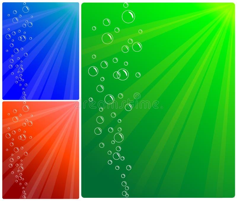 Hintergrund der Luftblasen und des Wassers lizenzfreie abbildung