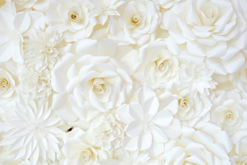 Hintergrund der Papier-faltenden Blume lizenzfreie stockfotografie