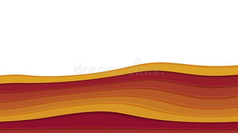 Hintergrund in der Papierart lizenzfreie abbildung