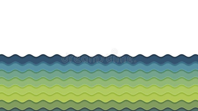Hintergrund in der Papierart vektor abbildung