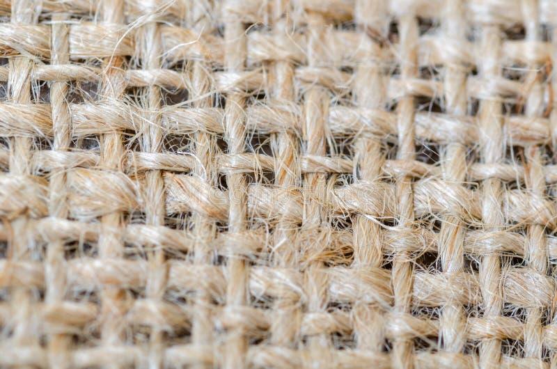Hintergrund der Rausschmissbeschaffenheit des Leinwandgroben sackzeugs lizenzfreie stockbilder