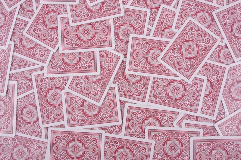 Hintergrund der roten Karten stockfotografie