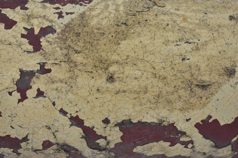 Hintergrund der Schalenfarbe auf Metall stockbild