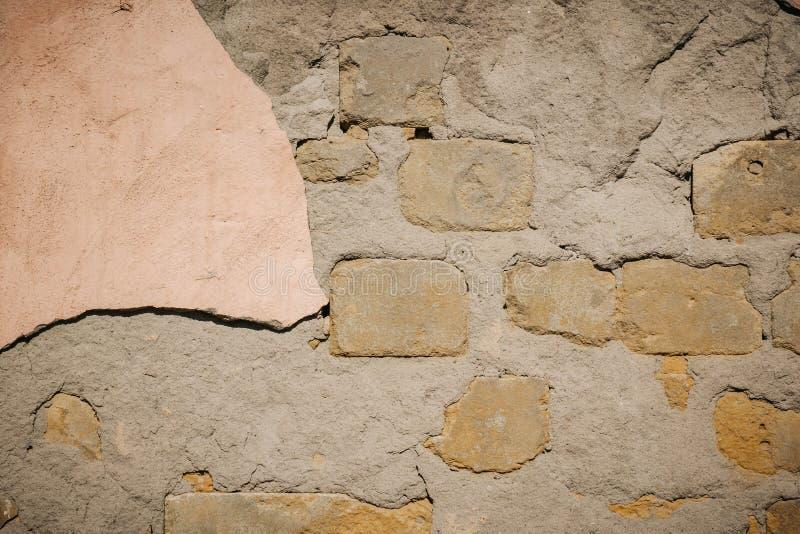Hintergrund der Sprungsbacksteinmauerbeschaffenheit lizenzfreies stockbild