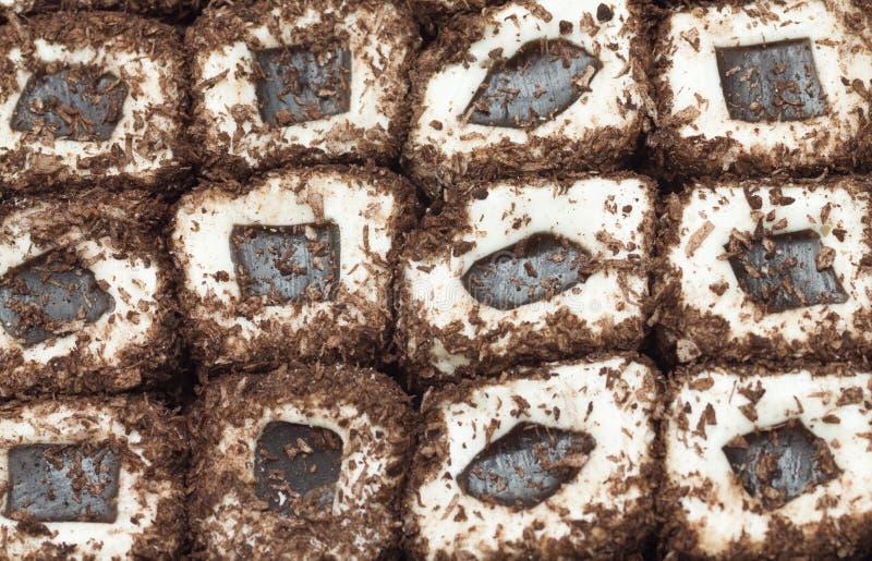 Hintergrund der türkischen Freude der Schokolade lizenzfreie stockbilder
