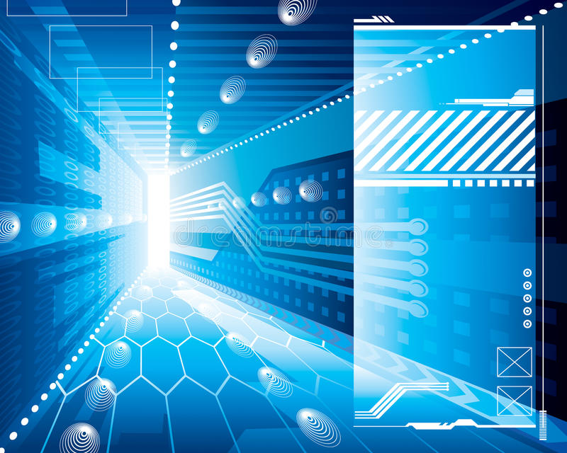 Hintergrund Der Technologie-3D Stockbild
