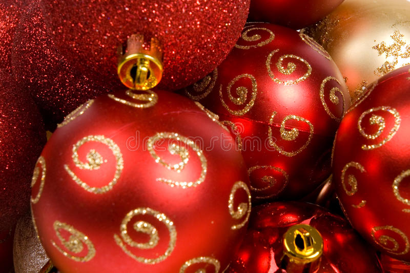 Hintergrund der Weihnachtskugeln lizenzfreie stockfotos