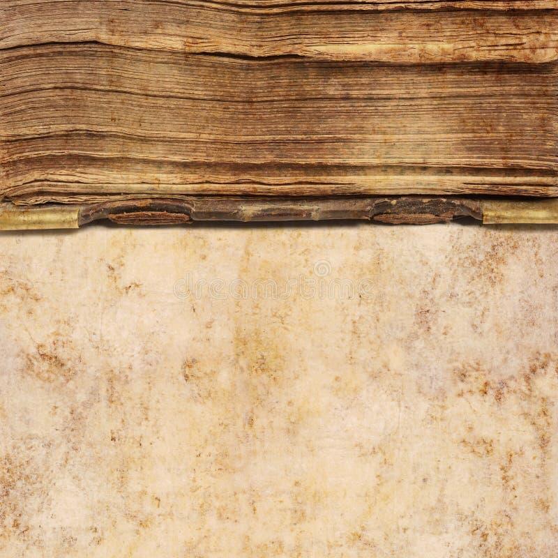 Hintergrund des alten Buches lizenzfreie stockfotografie