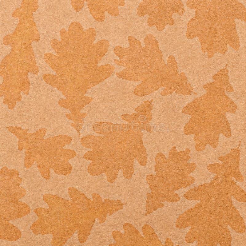 Hintergrund des alten Papiers mit Impressen von Blättern lizenzfreies stockfoto